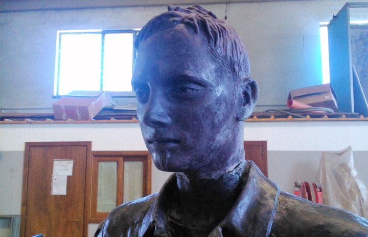 MONUMENTO A MANUELE BRAJ MODELLO IN CERA PRIMA DELLA FUSIONE IN BRONZO (PRIMA) (24)