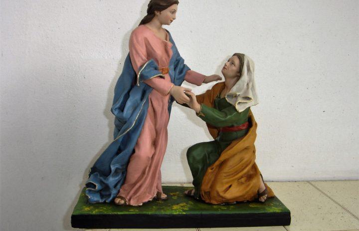 RESTAURO STATUE IN CARTAPESTA VISITA DI MARIA AD ELISABETTA (DOPO) (1)