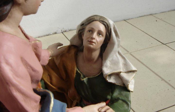 RESTAURO STATUE IN CARTAPESTA VISITA DI MARIA AD ELISABETTA (DOPO) (3)