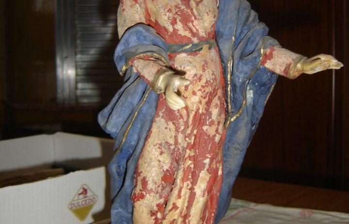 RESTAURO STATUE IN CARTAPESTA VISITA DI MARIA AD ELISABETTA (PRIMA) (2)